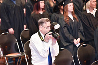 David Henahan at the college's 2019 commencement event at Albany. Image: Johnny Miller '10, OTS Photography