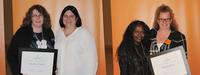 Foundation Award Winner past and present: Heather Gaebel and Rose Stevens, Bessie Walker and Robin Oliver.
