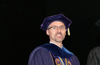 Nathan Gonyea, dean of the School for Graduate Studies, at the 2018 commencement event at Albany.